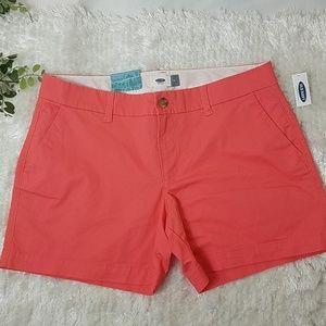 Old Navy coral shorts NEW
